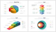 彩色立体并列关系商务PPT图集ppt文档