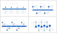 蓝色商务通用时间轴PPT图表合集ppt文档