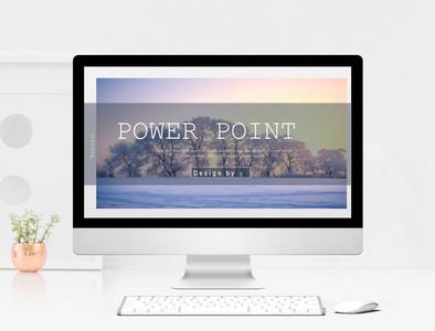 唯美风景杂志企业宣传PPT模板图片