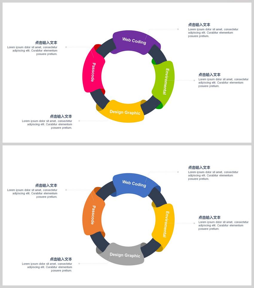圆环PPT数据图表图片