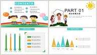 儿童节快乐PPT模板ppt文档