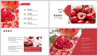 水果美食宣传画册PPT模板ppt文档