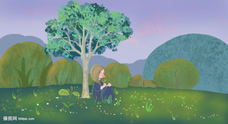 树底下的小女孩女生彼岸头像花QQ图片