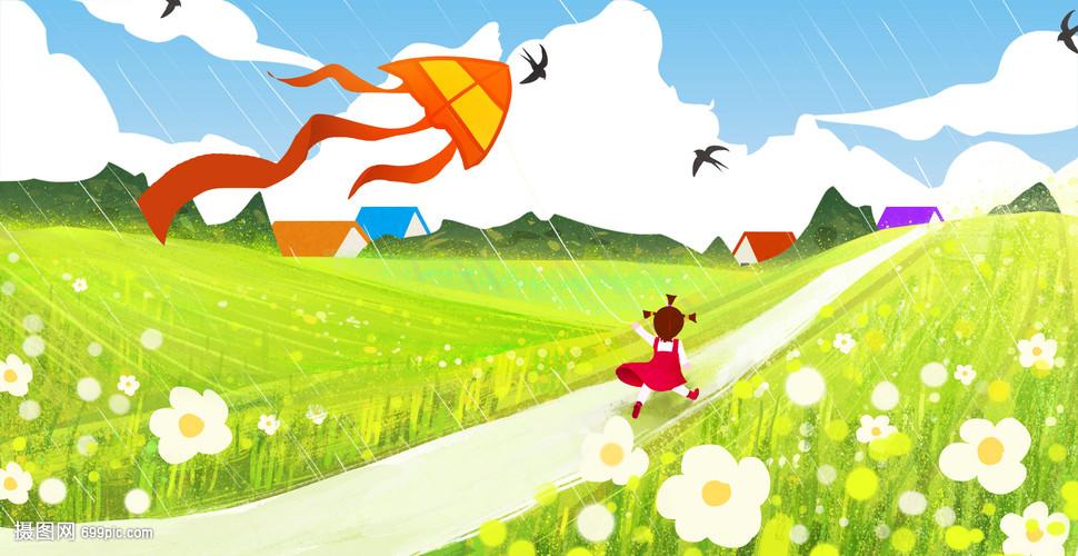 春天孩子放风筝图片_春天放风筝的唯美句子