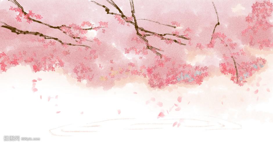 樱花图片手绘唯美_简单又漂亮的樱花树怎么画