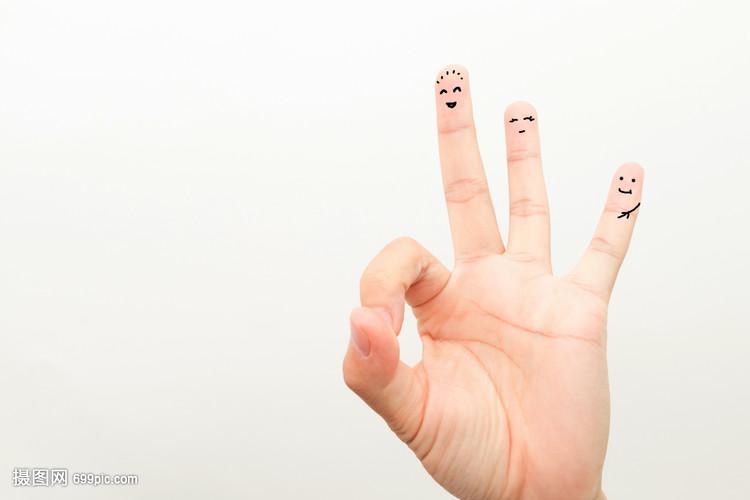 创意手指画表情手指图表情包的放假高兴图片