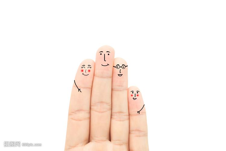 创意手指画表情手指alamwalker表情包的图片