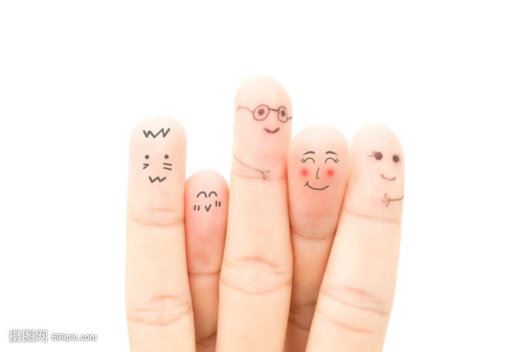 创意手指画表情手指完给的博美张好洗澡图片搞笑那图片
