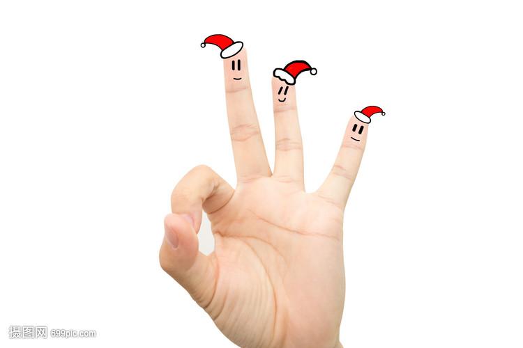 创意手指画表情手指微音里面表情包的抖信图片