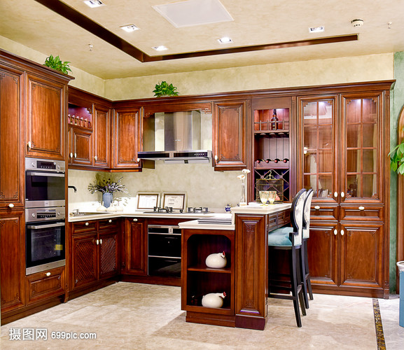 现代简约简欧式家装家居厨房客厅地址家具吊顶西安家具柜子福乐图片