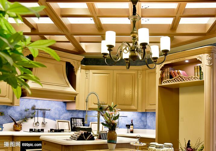 现代简约简欧式家装家居客厅柜子厨房家具吊顶门欧式家具图片