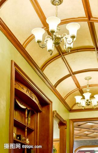 现代简约简欧式家装家居厨房客厅柜子家具吊顶黎氏阁太原红木家具图片