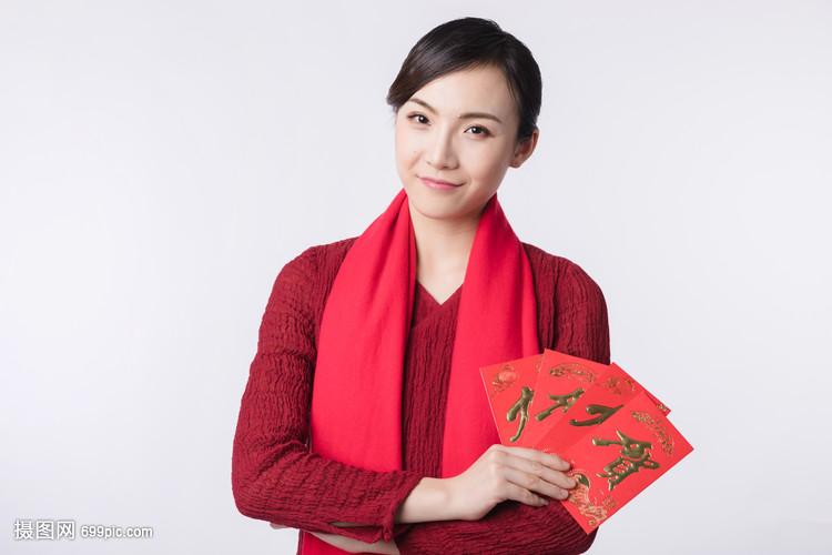 新春汉服红包手拿美女拍女生街欧美图片