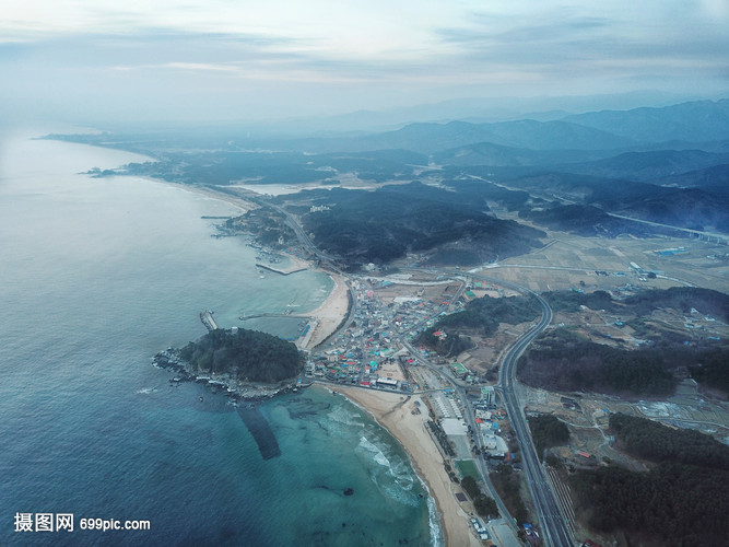 韩国地标襄阳海滨