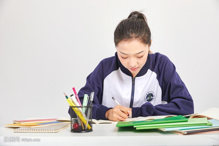 女高中生作文做v作文高中形象青春动作的图片