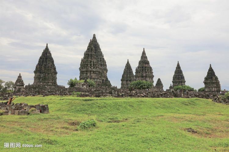 印度尼西亚日惹著名景点婆罗浮屠