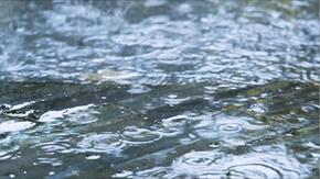 下雨天的地面