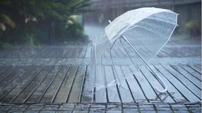 雨天路边的雨伞