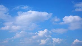 晴空蓝天白云延时高清