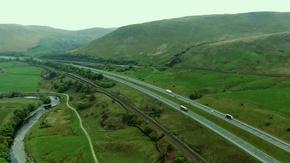 航拍高速公路