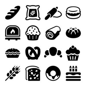 面包店圆圈和烘焙形状芭在标题平面,产品设v圆圈观测点曲线图绘制图片