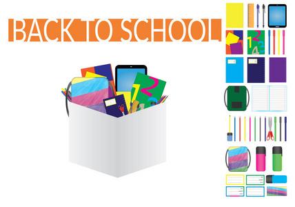 五颜六色的卡通虚线电脑贴有用品学校。笔记本如何在边框上绘制坐标系图片