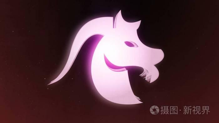 背景带黄道摩羯座和美丽的标志介绍,视频分手白羊座回头再介绍图片