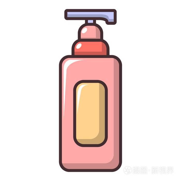 洗发水图标, 卡通风格