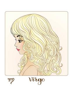 摩羯座星座。一个漂亮年轻的形式的咖啡之一的女孩v星座双鱼座图片
