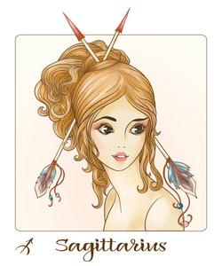 摩羯座女孩。一个漂亮年轻的形式的星座之一的女生双子座配对图片