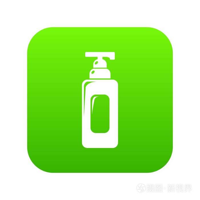 洗发水分配器图标绿色向量