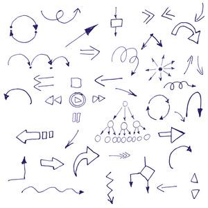 v黑色的黑色标志。手工绘制的简单符号。信阳ui平面设计图片