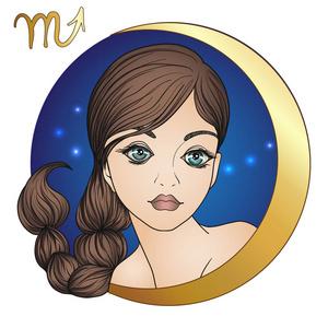 摩羯座星座。一个漂亮年轻的女孩的形式之一的摩羯座2018年5月6日运图片