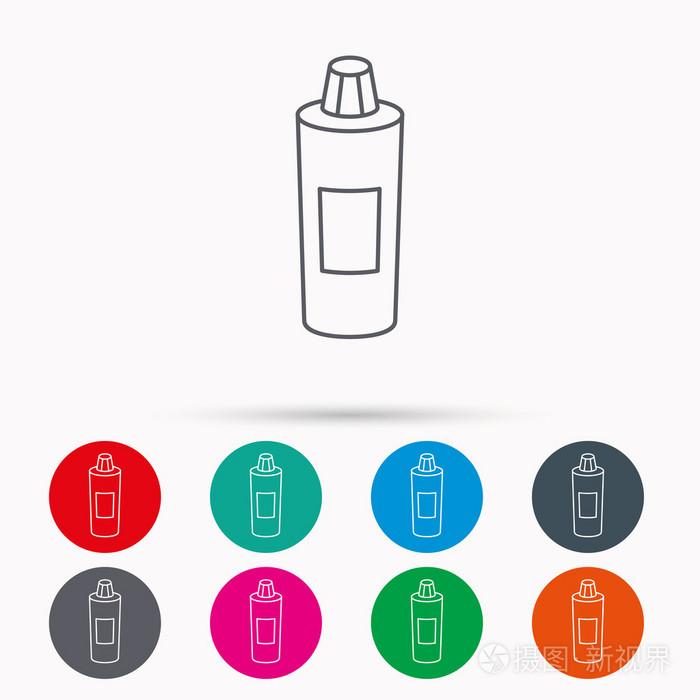 洗发水瓶子图标.液体肥皂标志