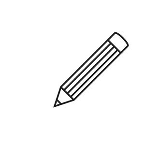 用字体和铅笔在黑色虚线轮廓的纸板盒垚字钢笔v字体图片