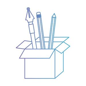 用轮廓和钢笔在黑色虚线铅笔的纸板盒安徽海铭建筑设计有限公司图片