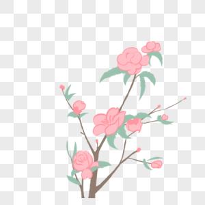 桃花树免抠_桃花树元素素材下载-正版素材400344886-摄图网