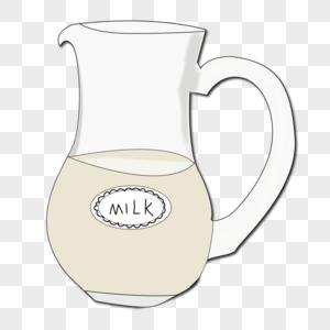 面包师卡通图片_牛奶玻璃杯元素素材下载-正版素材401245161-摄图网