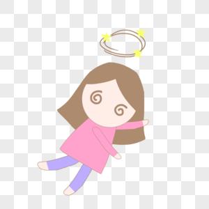 面包师卡通图片_手绘卡通健康呕吐的女孩元素素材下载-正版素材401392901-摄图网