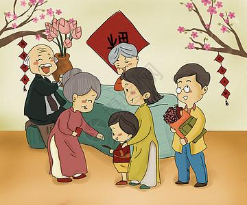喜庆卡通娃娃_压岁钱插画图片下载-正版图片400091797-摄图网