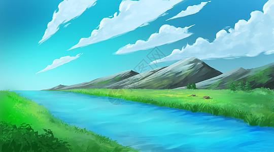 乡村房子图片_手绘乡村风景插画图片下载-正版图片400206715-摄图网