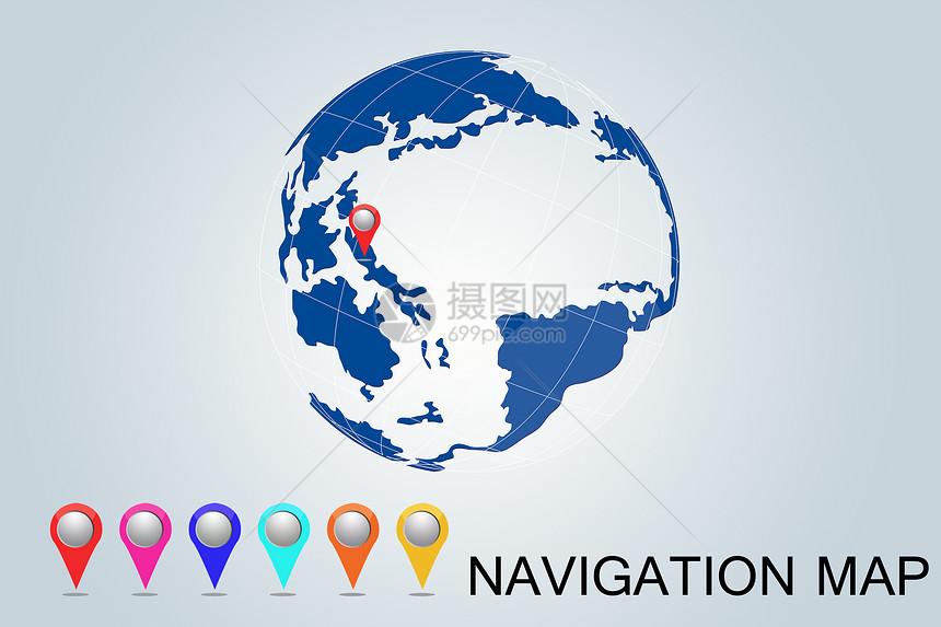 中国地图电子图_导航地图图片素材-正版创意图片400161194-摄图网