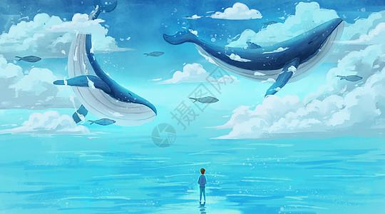 北极熊高清_鲸鱼幻想插画插画图片下载-正版图片400083063-摄图网