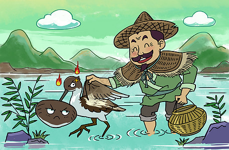 穆桂英卡通图片_武松打虎插画图片下载-正版图片400998692-摄图网