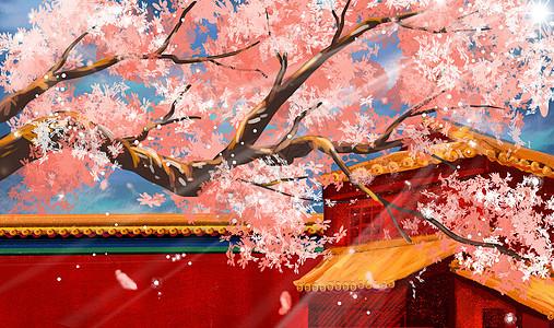富士山樱花_樱花季节插画图片下载-正版图片401021822-摄图网