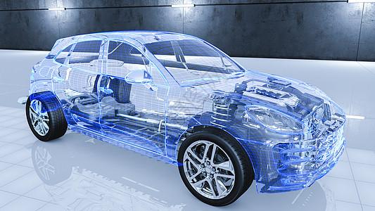 三维立体图_汽车透视结构场景图片素材-正版创意图片401245922-摄图网