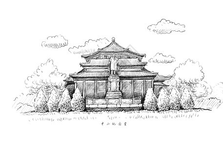乔家大院下载_上海外滩风景速写插画图片下载-正版图片401692637-摄图网
