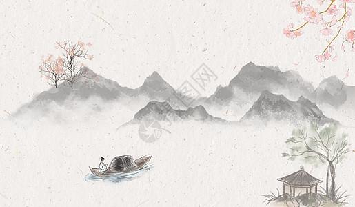 中式古典底纹背景_中国风水墨山水画背景图片素材-正版创意图片500404004-摄图网