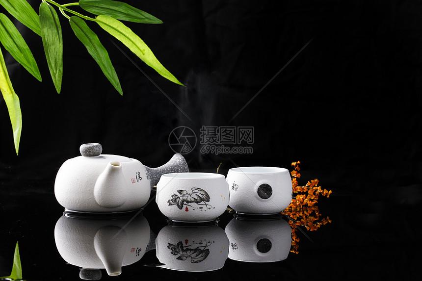 黑色茶杯_茶艺高清图片下载-正版图片500668999-摄图网