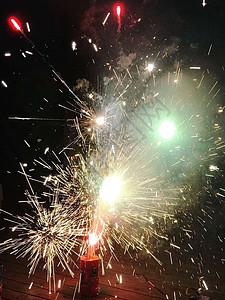 春节喜庆图片_春节放礼花的人群高清图片下载-正版图片501122665-摄图网
